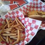 Chili Cheese dog & fries.