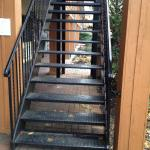 This staircase is NOT safe when it rains.