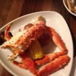 Alaskan King Crab, potatoes and corn