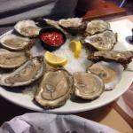Fresh shucked raw oysters