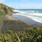 Sand art at Muriwai beach