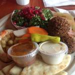 Lunch at Cedo's - Falafel, salad, pita bread and hummus