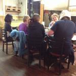 SAU students take advantage of Andy's free wifi while enjoying a Sunday night meal!