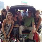 Pedicab tour for 8!