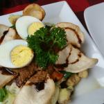 Gado-gado with rice on the side!
