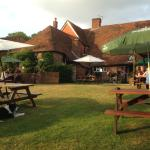 beer garden at the pub