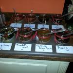 8 different homemade jams