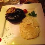 boudin noir caoutchouteux et gratin pas cuit