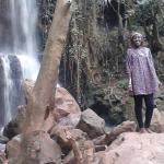 this is the waterfall that is next to the caves