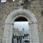 The gate to Campo dei Miracoli next to the hotel