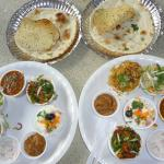 Two plates of Bombay thali
