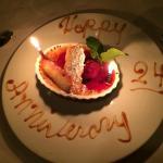 Anniversary dessert!
