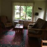 living room in artist cottage