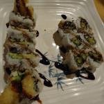 Shrimp Tempura and Asparagus Tempura Maki Sushi