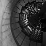 Biloxi Lighthouse Looking Down the Stairs from the Top