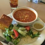 Half Brunswick Stew and Salad