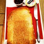 Beautiful fresh toast (about 1 inch high) served with style!