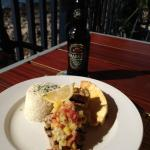 Locally caught Snapper (grilled) w/Crabbies Ginger Beer
