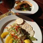 Locally caught Grouper (Ceviche) w/Saltfish Fritters