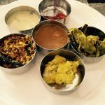 Side dishes in the thali lunch