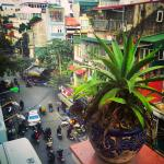 Street view of Hanoi from private room