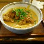 Karaage (Fried) chicken curry udon