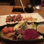 Dragon roll and mixed salad