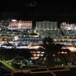 Puerto Rico by night as seen from balcony 508