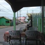 Street view looking toward back of island