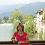Bassano River on the bridge