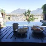 View from deck having breakfast