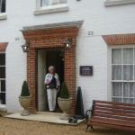 The main entrance to the Lodge