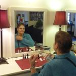 My Wife Applies Makeup in the Dressing Room of the Stars