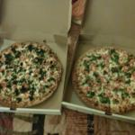 White and Greek pizza