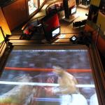 Screen in a boxing ring