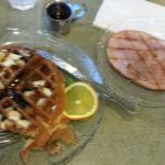 Protein Waffle with side of Ham