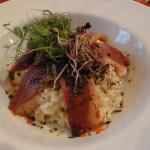 Risotto with cheese and Goose Liver