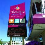 The Alouette Beach Resort's new sign!