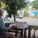 a quiet breakfast on my own …..