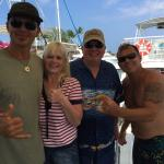 Back from a dive with Captain Frank, Me (Angie) Kevin & dive master Kevin! Awesome trips!!!
