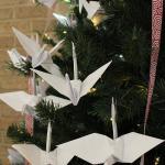 Origama Cranes representing Japan
