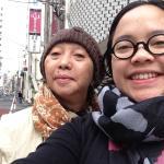pardon, mom and me in front of khaosan ninja Tokyo