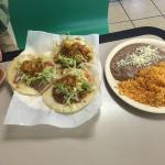 3 Tacos w/Beans and Rice....plenty for lunch