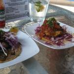 Fish cake and taco