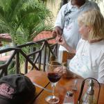 Feeding monkeys at Hotel Mimos