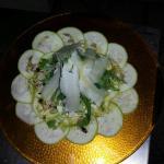 Para los vegetarianos..carpaccio de calabacines !!!!