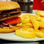 Double Burger and Chips