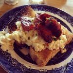 Chorizo and scrambled eggs