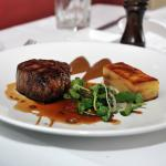 char-grilled, pasture-fed eye fillet with a truffle & potato galette