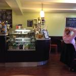 The independent McKechnies coffee shop on Rother Street is behind the Market (when held on Frida